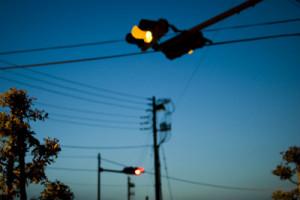 夜空と信号